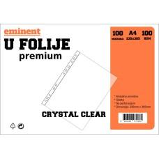 """Folija U Eminent PREMIUM 100 mikrona """"crystal clear"""" 1/100"""