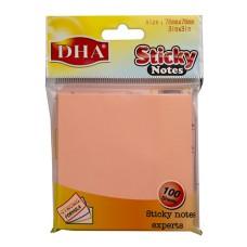 Stiker DHA 76x76 pink neon 100 listova