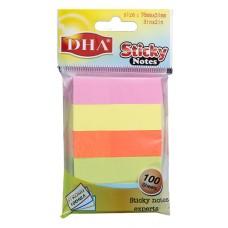 Stiker DHA 15X51 5/100 pastel 5 boja