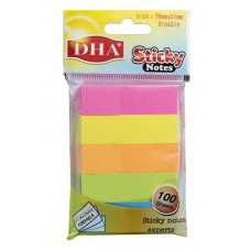 Stiker DHA 15X51 5/100 neon 5 boja